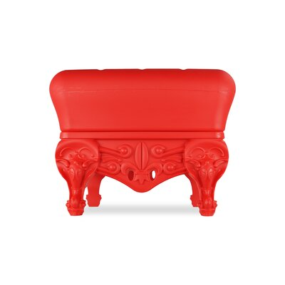 Little Prince of Love Ottoman Upholstery: Red Passion
