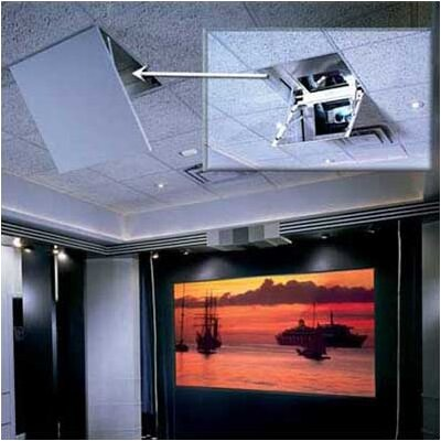 The Revelation Motorized Ceiling-Recessed Projector Mount Style: Model A, Plenum: None