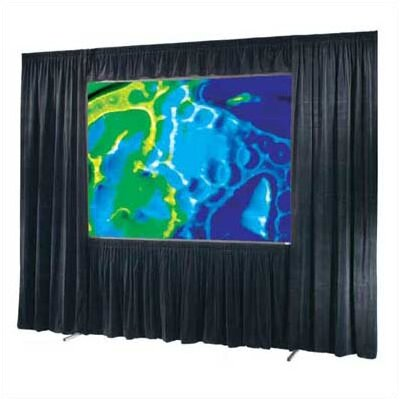 Ultimate Folding Screen Complete Dress Kit without Case (Black Velour) Size: Square - 10 x 10