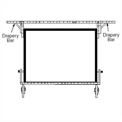 Drapery Bars for Dress Kit Size: NTSC - 150 Diag.