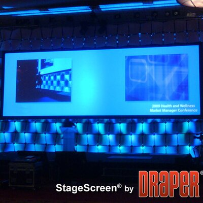 StageScreen Matt White Portable Projection Screen Viewing Area: 626 diagonal