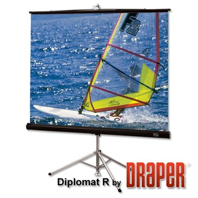 Diplomat Matte White Portable Projection Screen Viewing Area: 96 H x 96 W