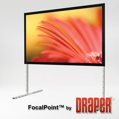 Focal Point Black Portable Projection Screen Size/Format: 193 Diagonal / 16:9, Surface Finish: Matt White