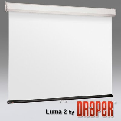 Luma 2 with AutoReturn Argent White Electric Projection Screen Size: 96 x 96