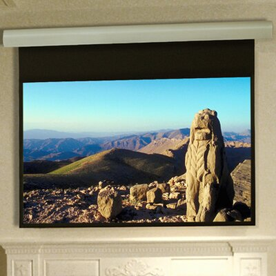 Silhouette Series E Matt White Electric Projection Screen Low Voltage Motor Size: 72 x 96