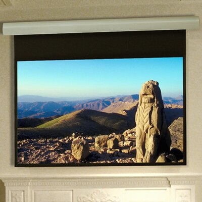 Silhouette Series E Matt White Electric Projection Screen Low Voltage and Quiet Motor Size: 72