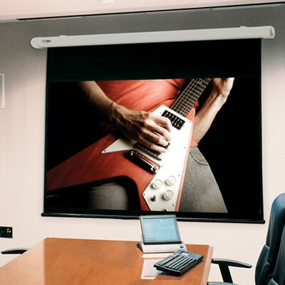 Salara White Electric Projection Screen Viewing Area: 70 H x 70 W