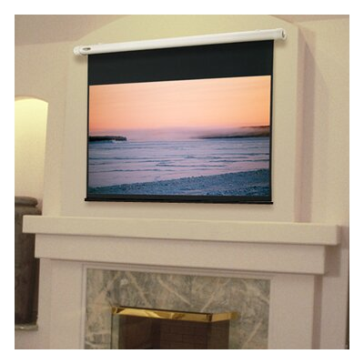 Salara Plug & Play White Electric Projection Screen Viewing Area: 96 H x 96 W