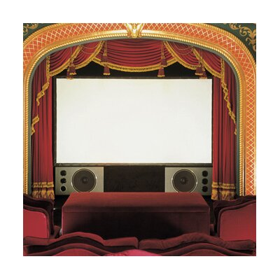 Cineperm  AV Format Projection Screen Surface Finish: Pure White, Size: 166