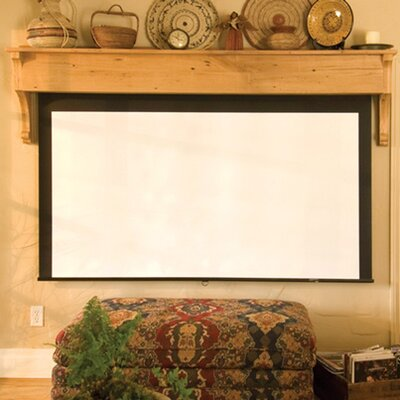 Silhouette Series M Pearl White Electric Projection Screen Size: 84 x 84