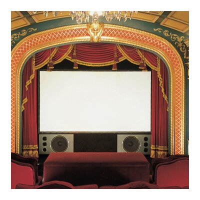 Cineperm Projection Screen Size/Format: 110, 16:9 Format, Surface Finish: Matt White