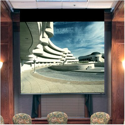 Envoy Matte White Electric Projection Screen Viewing Area: 96 H x 96 W