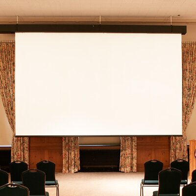 Rolleramic Black Electric Projection Screen Viewing Area: 126 H x 168 W