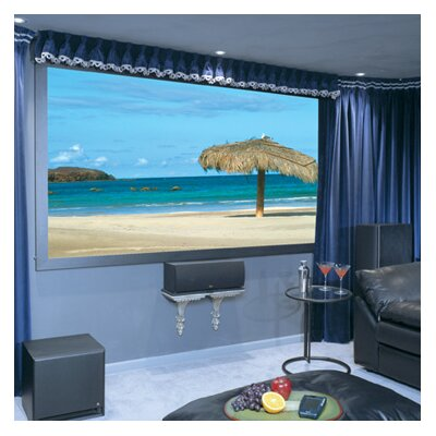 Onyx with Vertex Projection Screen Surface Finish: Grey, Size/Format: 110, 16:9 Format