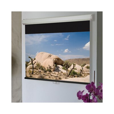Luma 2 Contrast White Electric Projection Screen Size: 96 x 120