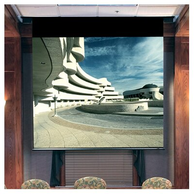 Envoy Grey Electric Projection Screen Low Voltage Motor Viewing Area: 72 H x 96 W