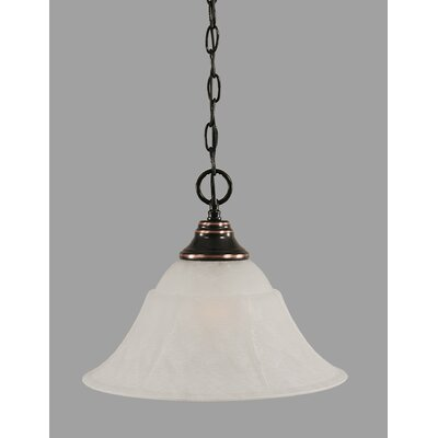 1-Light Downlight Pendant Finish: Black Copper