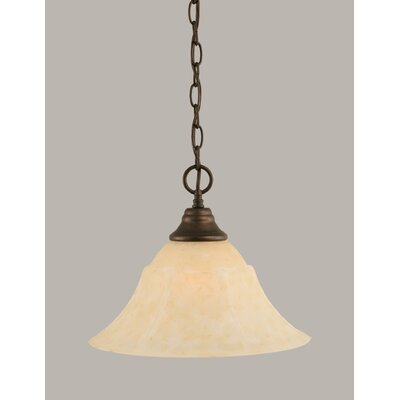 1-Light Downlight Pendant Finish: Bronze