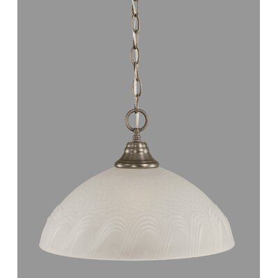 1-Light Bowl Pendant Finish: Brushed Nickel