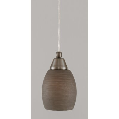 1-Light Mini Pendant Finish: Brushed Nickel, Shade Color: Gray