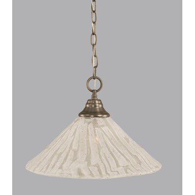 1-Light Bowl Pendant Finish: Brushed Nickel, Size: 16 W