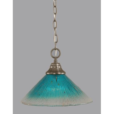 1-Light Downlight Pendant Finish: Brushed Nickel