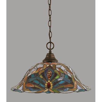 1-Light Downlight Pendant Finish: Bronze