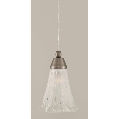 1-Light Mini Pendant Finish: Brushed Nickel, Shade Color: Frosted