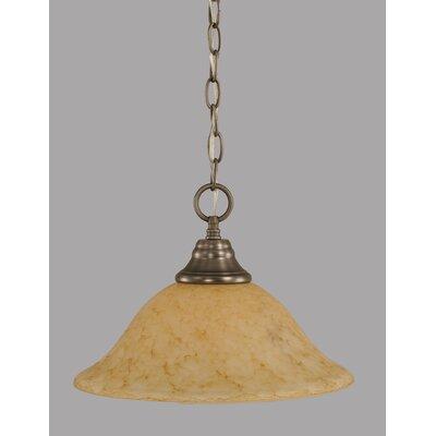 1-Light Downlight Pendant Finish: Brushed Nickel