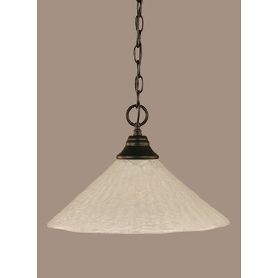 1-Light Mini Pendant Size: 10.25 H x 16 W