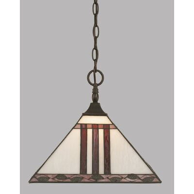 1-Light Mini Pendant Finish: Dark Granite, Shade Color: Purple
