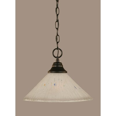 1-Light Mini Pendant Size: 9.75 H x 12 W, Shade Color: Frosted