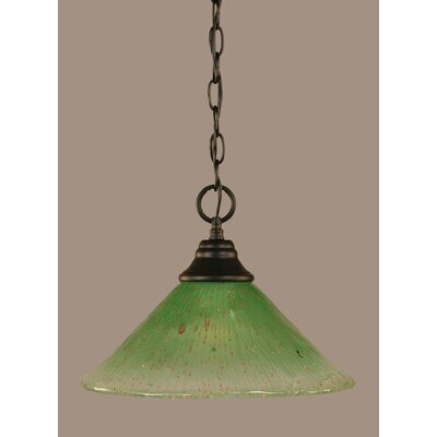 1-Light Mini Pendant Shade Color: Kiwi Green, Size: 9.75 H x 12 W