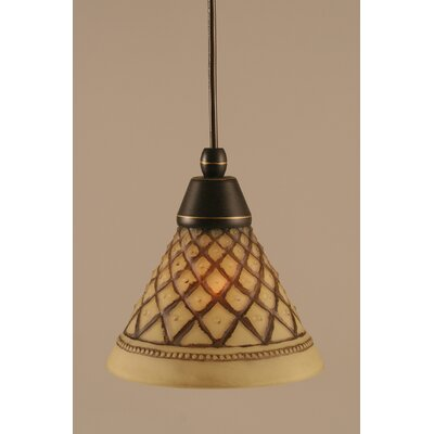 1-Light Mini Pendant Finish: Dark Granite, Size: 7 H x 7 W