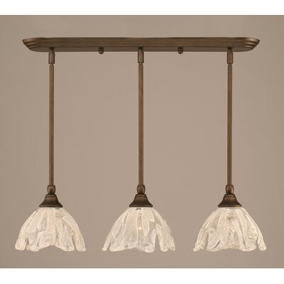3-Light Kitchen Island Pendant Finish: Bronze