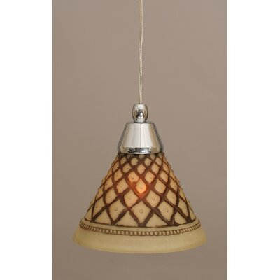 1-Light Mini Pendant Finish: Chrome, Size: 7 H x 7 W
