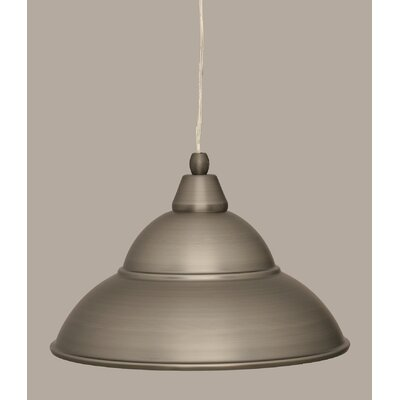1-Light Mini Pendant Finish: Brushed Nickel, Size: 8.5 H x 13 W