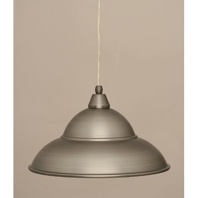 1-Light Mini Pendant Finish: Brushed Nickel, Size: 9.5 H x 16 W