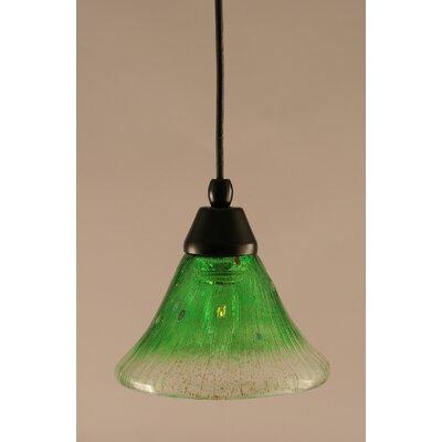 1-Light Mini Pendant Shade Color: Kiwi Green