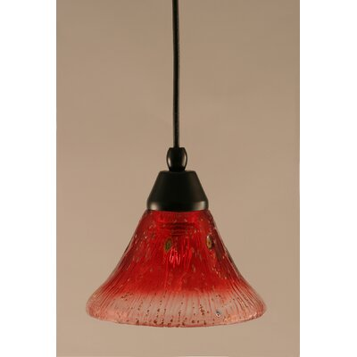 1-Light Mini Pendant Shade Color: Raspberry