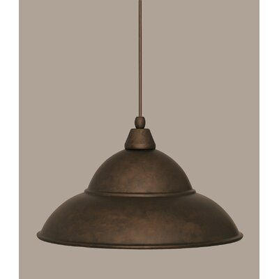 1-Light Mini Pendant Finish: Bronze, Size: 9.5 H x 16 W