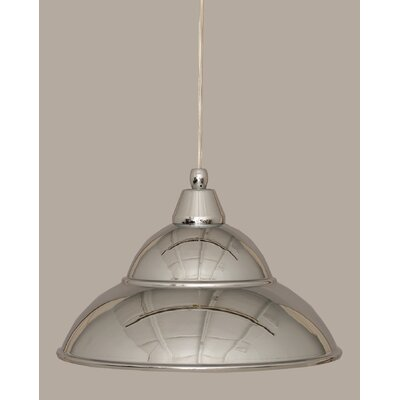 1-Light Mini Pendant Size: 8.5 H x 13 W, Finish: Chrome