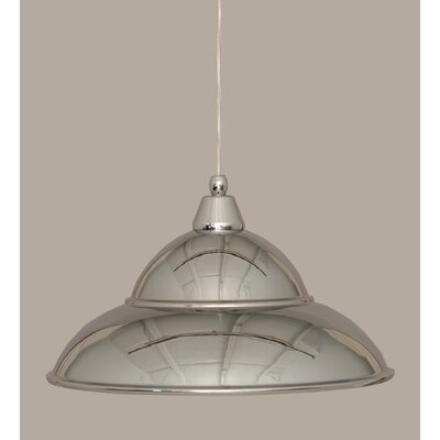 1-Light Mini Pendant Finish: Chrome, Size: 9.5 H x 16 W