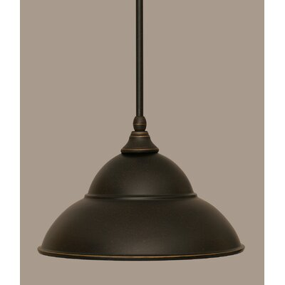 Stem 1-Light Mini Pendant Finish: Dark Granite, Size: 8.5