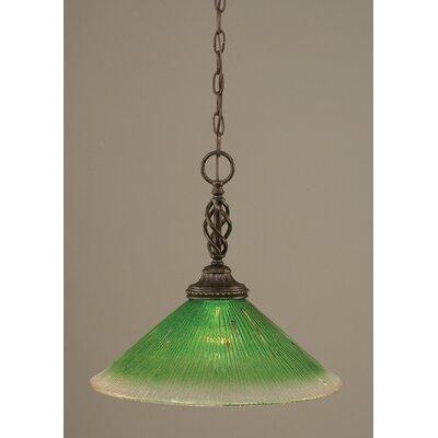 Elegante 1-Light Mini Pendant Shade Color: Kiwi Green