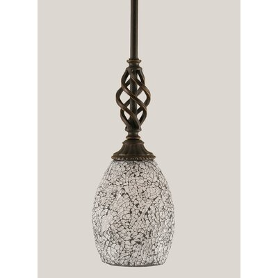 Ellesmere 1-Light Mini Pendant Shade Color: Black