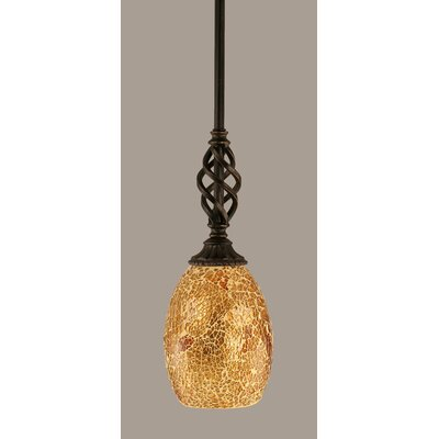 Elegante 1-Light Mini Pendant Shade Color: Gold