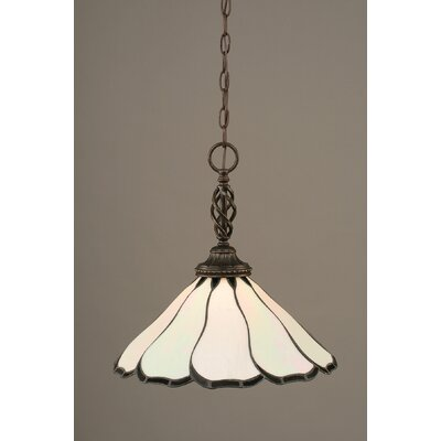 Elegante 1-Light Mini Pendant Shade Color: Pearl