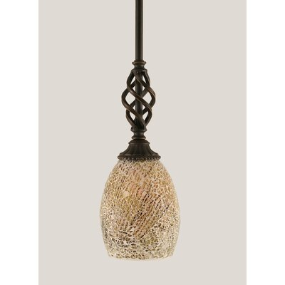 Ellesmere 1-Light Mini Pendant Shade Color: Natural