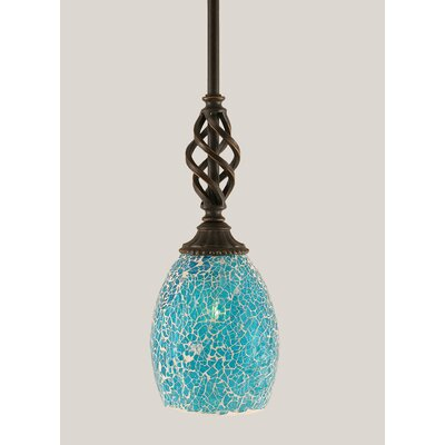 Ellesmere 1-Light Mini Pendant Shade Color: Turquoise